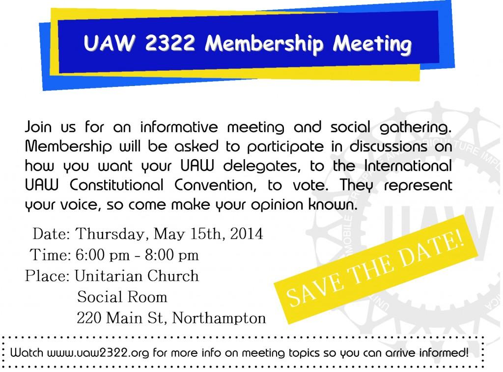 2014 Membership meeting postcard