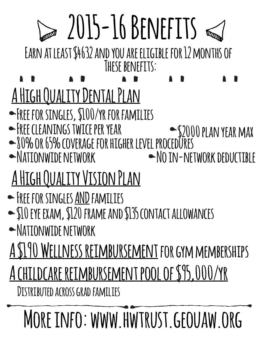 2015-2016 GEO Benefits Fair flier page 1