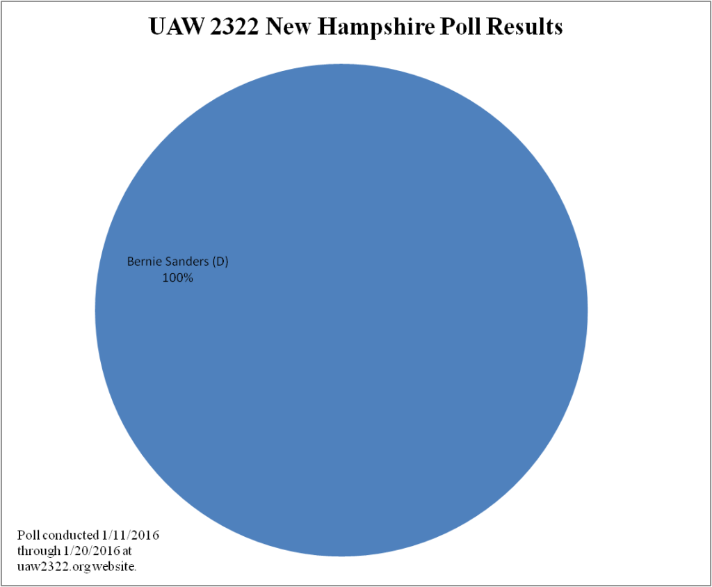 2016 Presidential Poll Results - NH